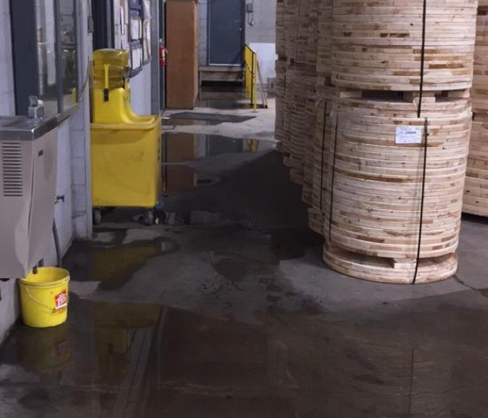 Wet warehouse concrete